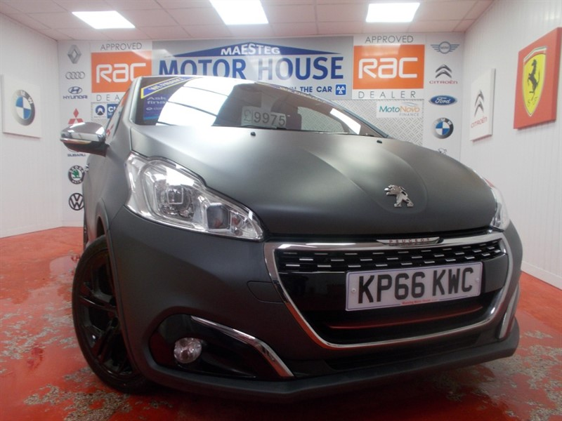 used Peugeot 208 THP GTI PRESTIGE (MATT FINISH SIMPLY STUNNING) FREE MOT'S AS LONG AS YOU OWN THE CAR!!! in glamorgan
