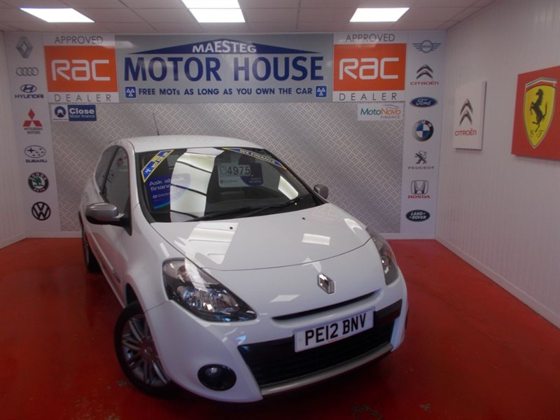 Car of the week - Renault Clio DYNAMIQUE TOMTOM 16V(SAT NAV) FREE MOT'S AS LONG AS YOU OWN THE CAR!!! - Only £4,975