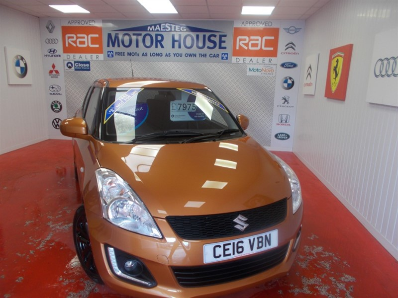 used Suzuki Swift SZ-L (SAT NAV) (ONLY 15,506 MILES) FREE MOT'S AS LONG AS YOU OWN THE CAR!!! in glamorgan
