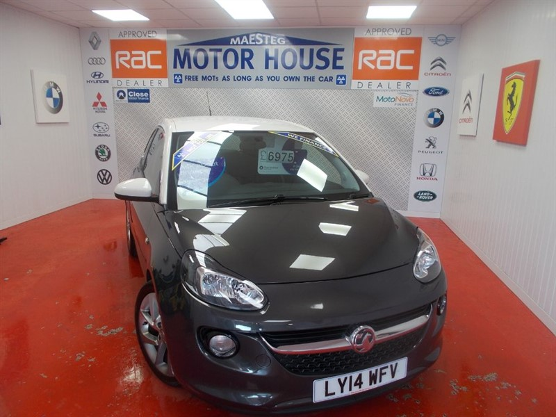 used Vauxhall Adam SLAM S/S(ONLY 24000 MILES)FREE MOT'S AS LONG AS YOU OWN THE CAR!!! in glamorgan