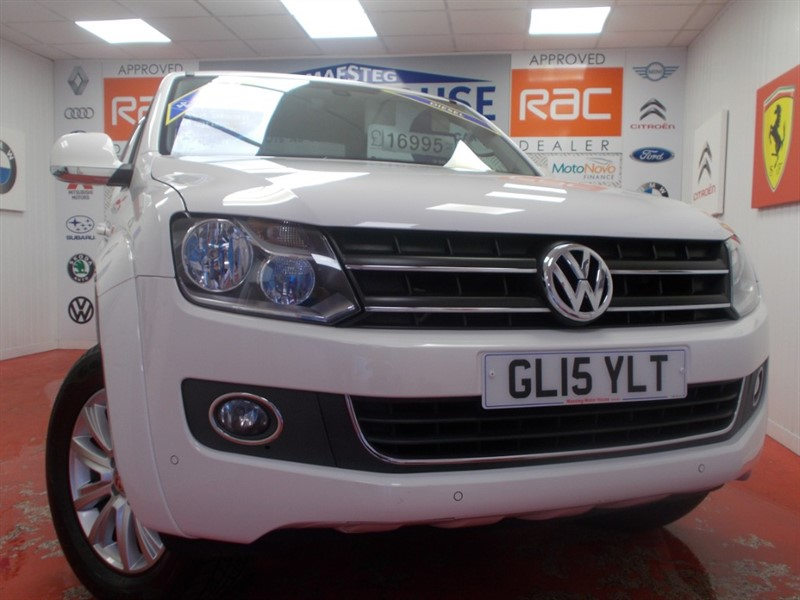 used VW Amarok DC TDI HIGHLINE 4MOTION(SAT NAV & FULL LEATHER) FREE MOT'S AS LONG AS YOU OWN THE CAR!! in glamorgan