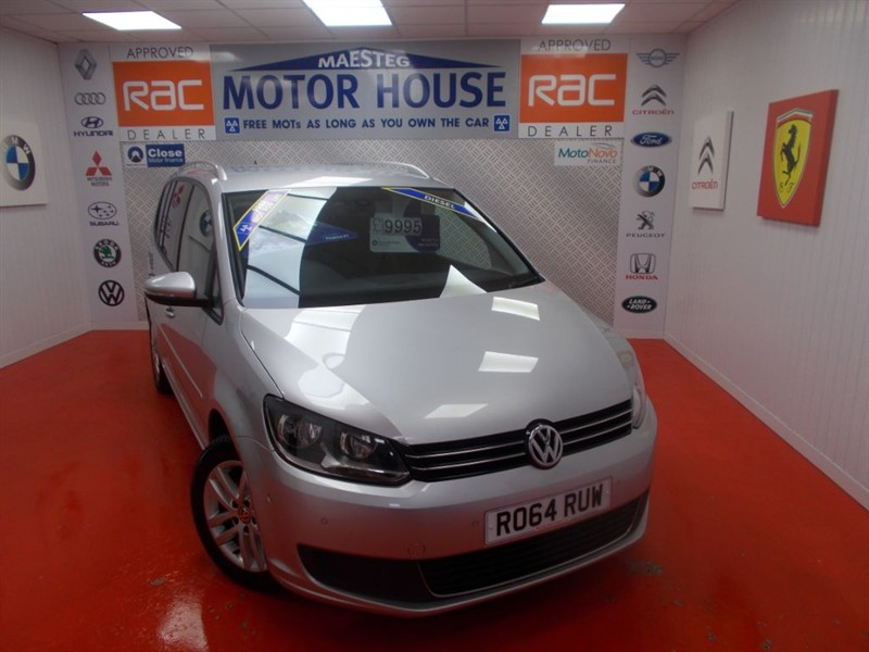 used VW Touran SE TDI BLUEMOTION TECHNOLOGY DSG(FREE MOT'S AS LONG AS YOU OWN THE CAR!!! in glamorgan