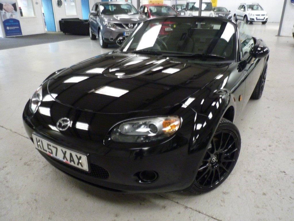 used Mazda MX-5 1.8 CONVERTIBLE + 6 SERVICES + JUNE 20 MOT + GLOSS BLACK ALLOYS + TWIN EXHAUSTS in sheffield