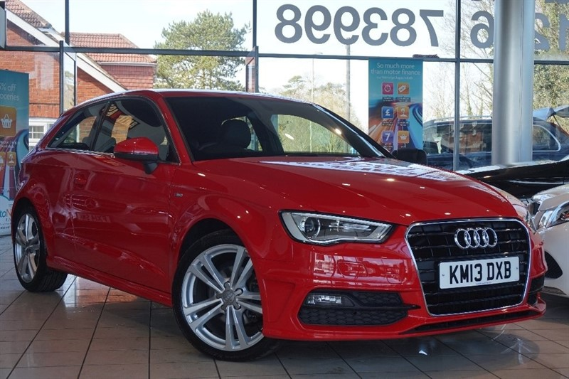 used Audi A3 TDI S line 3dr in basingstoke-hampshire