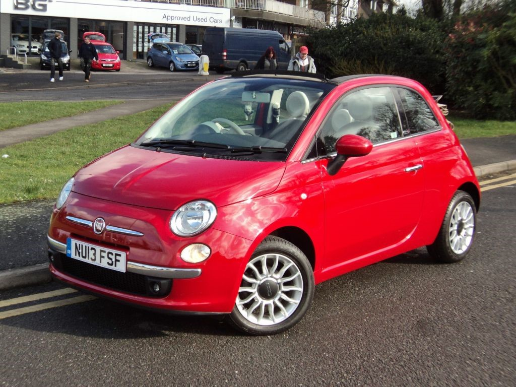 fiat 500c lounge cabriolet for sale epsom downs. Black Bedroom Furniture Sets. Home Design Ideas