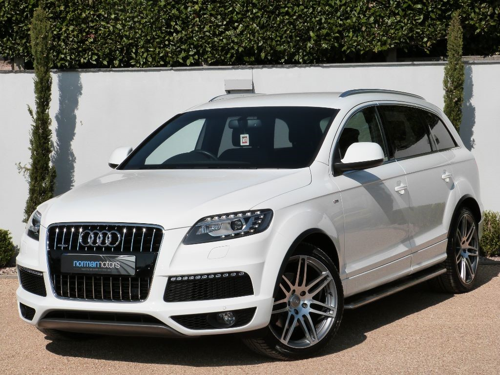 used pure white audi q7 for sale dorset. Black Bedroom Furniture Sets. Home Design Ideas