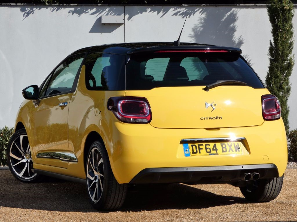 used yellow citroen ds3 for sale dorset. Black Bedroom Furniture Sets. Home Design Ideas