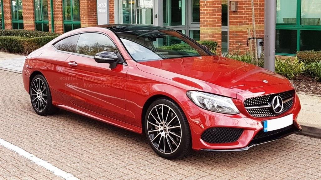 used Mercedes C250 C Class AMG Line (Premium Plus) 9G-Tronic Plus (s/s) 2dr in surrey