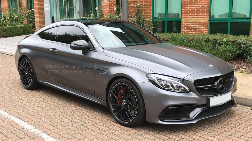 used Mercedes C63 AMG C Class V8 BiTurbo AMG S (Premium) SpdS MCT (s/s) 2dr in surrey
