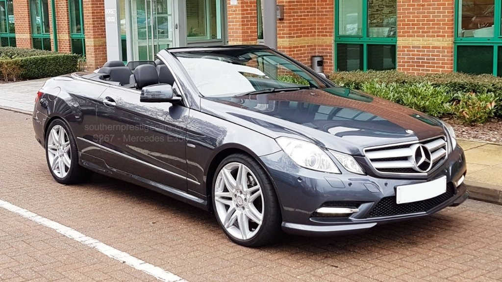 used Mercedes E350 E Class CDI BlueEFFICIENCY Sport Edition 125 Cabriolet 7G-Tronic Plus (s/s) 2dr in surrey