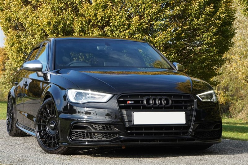 used Audi A3 S3 SPORTBACK QUATTRO NAV ** TRIPLE BLACK ** ROTIFORM ALLOYS & COILOVERS in essex