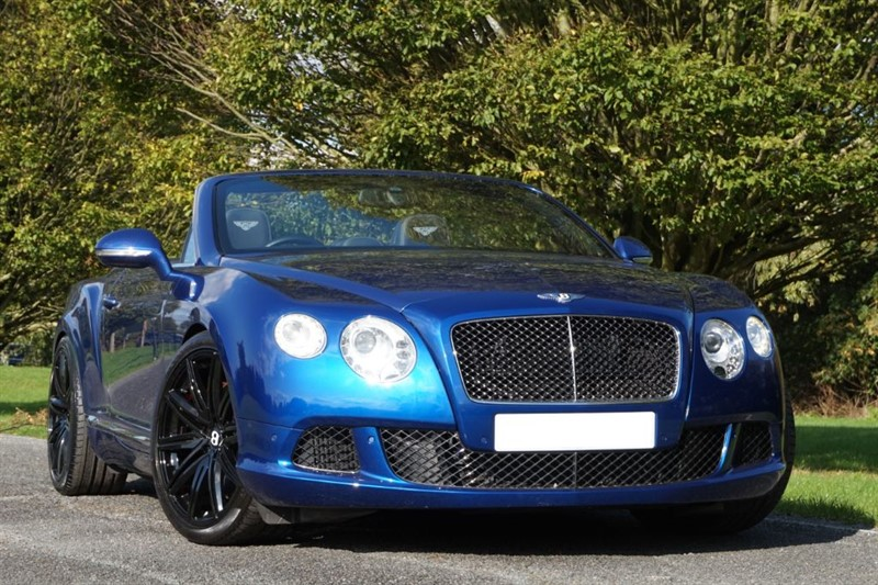 used Bentley Continental GTC FACTORY SPEED 615 BHP ** INDIVIDUAL SEQUIN BLUE ** in essex