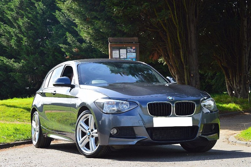 used BMW 120d M SPORT ** RED HEATED LEATHER ** in essex