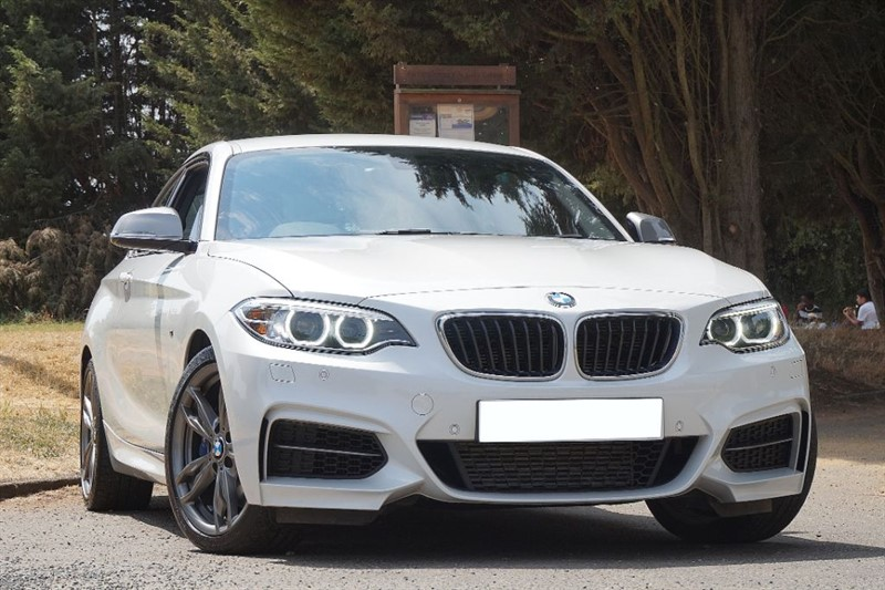 used BMW M235i ** MINERAL WHITE WITH BROWN LEATHER **  in essex