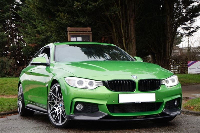 used BMW 420d M SPORT ** SPECIAL ORDER INDIVIDUAL JAVA GREEN ** SUN ROOF ** in essex