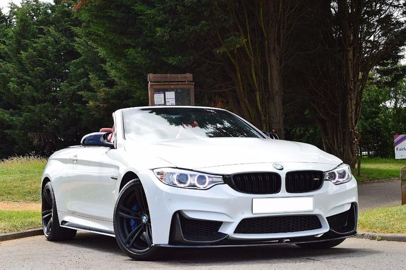 used BMW M4 ** PEARL WHITE & SAKHIR ORANGE UPHOLSTERY ** in essex