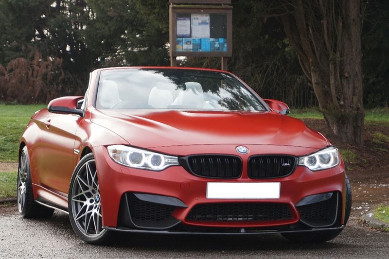 used BMW M4 ** INDIVIDUAL FROZEN RED WITH OPAL WHITE NAPPA ** in essex