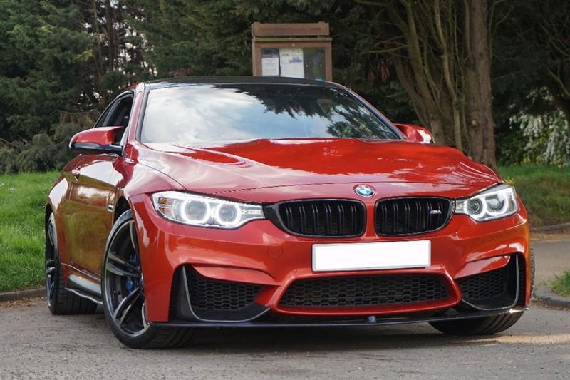 used BMW M4  ** EXTENDED SAKHIR ORANGE LEATHER **  in essex