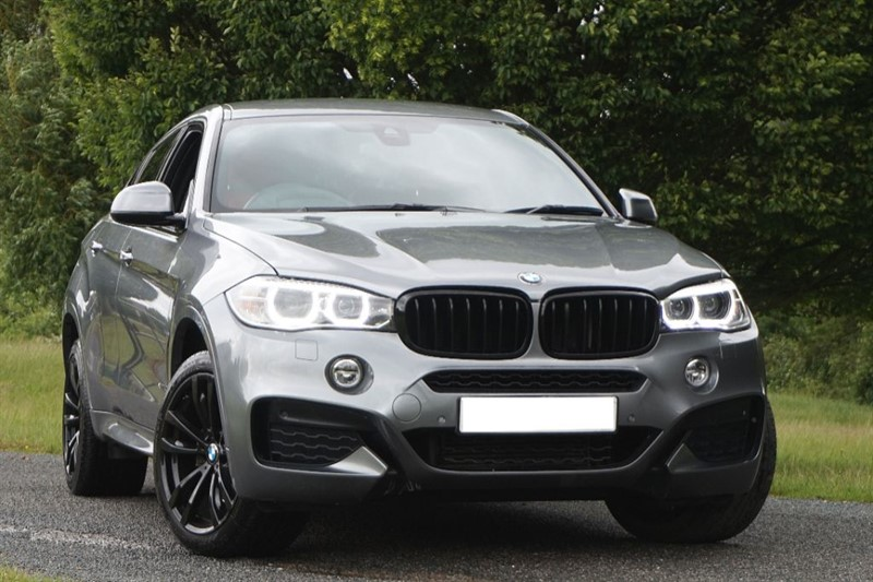 used BMW X6 XDRIVE40D M SPORT ** RED LEATHER & REVERSE CAMERA ** in essex