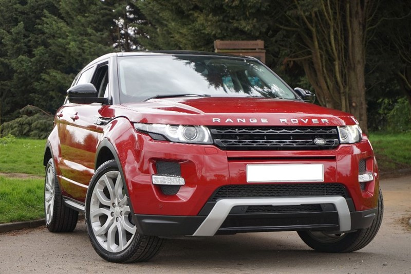 used Land Rover Range Rover Evoque SD4 DYNAMIC ** ONLY 16,000 MILES ** AS NEW CONDITION ** RED LEATHER ** in essex