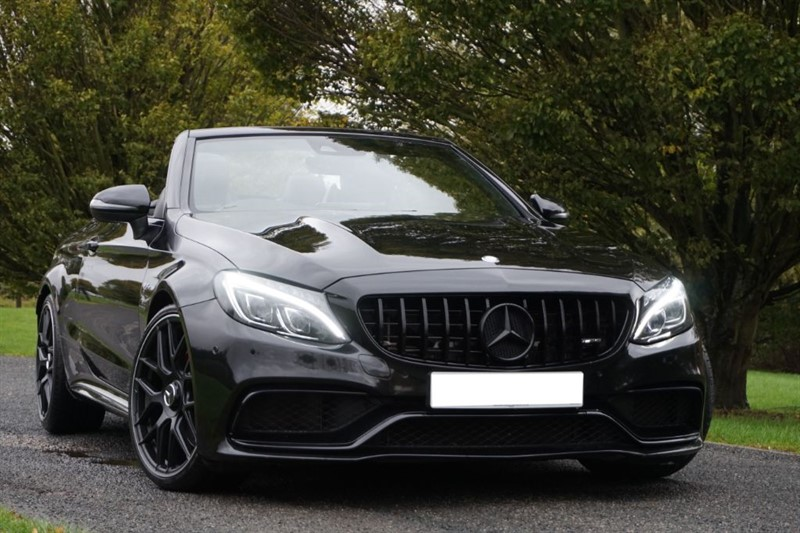"""used Mercedes  C-CLASS AMG C 63 PREMIUM ** TRIPLE BLACK ** 20"""" WHEELS ** in essex"""