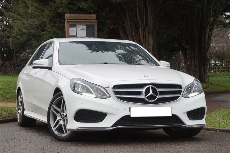 used Mercedes E220 BLUETEC AMG LINE ** 1 PREVIOUS OWNER ** IVORY LEATHER ** in essex