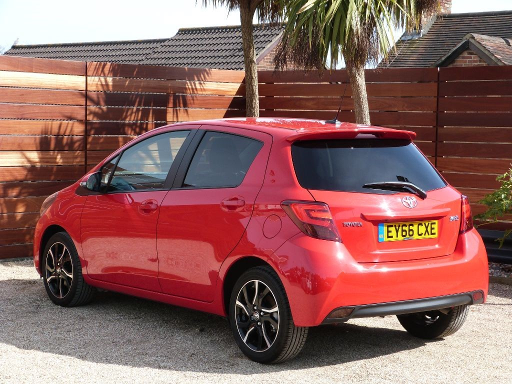 used chili red toyota yaris for sale dorset. Black Bedroom Furniture Sets. Home Design Ideas