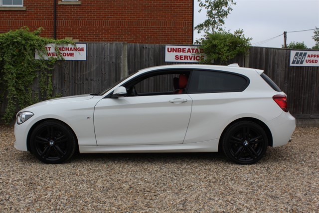 used BMW 116d M SPORT (RED LEATHER+XENONS) in thatcham-berkshire