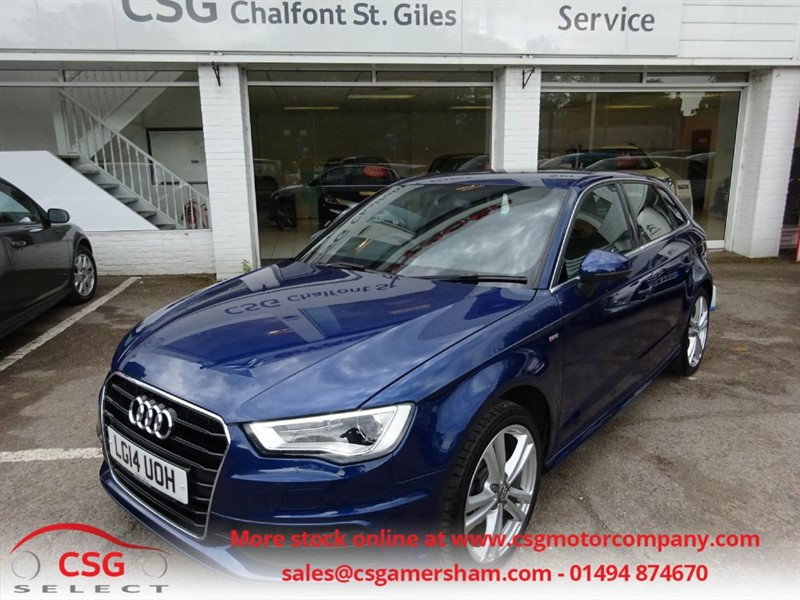 used Audi A3 TDI S LINE AUTO - FASH - NAV - BLUETOOTH - LEATHER TRIM - CRUISE in amersham