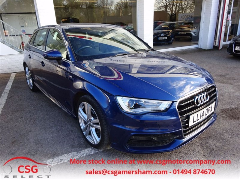 used Audi A3 TDI S LINE - SAT NAV- H/LEATHER- FFSH in amersham