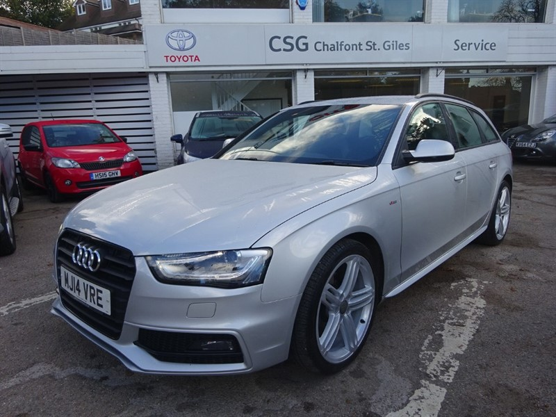 used Audi A4 AVANT TDI S LINE 174 BHP -H/SEATS- BLACK STYLING PACK - FSH in amersham