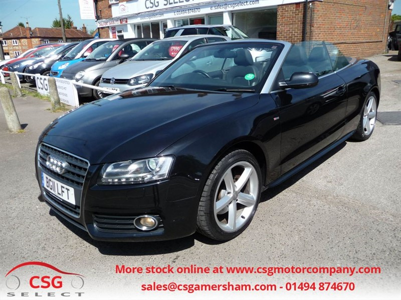 used Audi A5 TFSI S LINE CONVERTIBLE - FSH - LEATHER - CLAIMATE in amersham