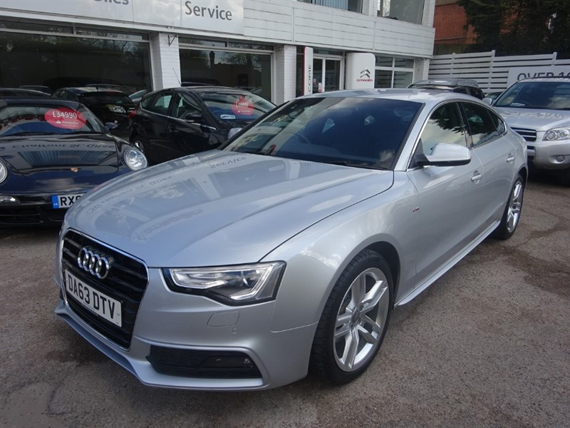 used Audi A5 SPORTBACK TDI S LINE - FASH -H/LEATHER SEATS - SAT NAV in amersham