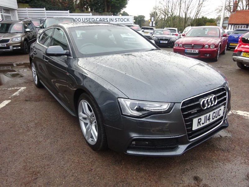 used Audi A5 SPORTBACK TDI QUATTRO S LINE - H/LEATHER - CRUISE - BLUETOOTH in amersham