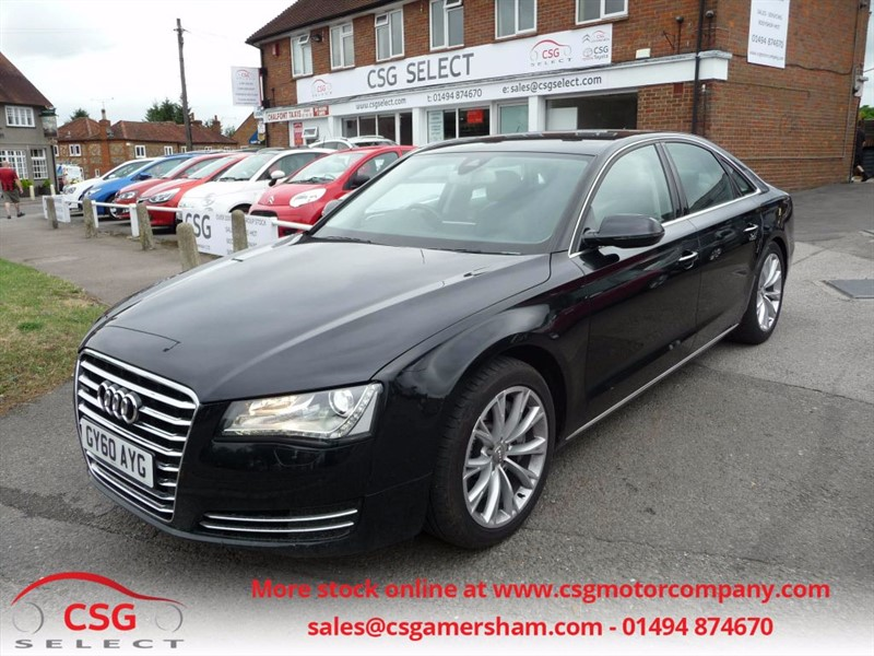 used Audi A8 TDI QUATTRO SE EXECUTIVE - FASH - LEATHER - NAV - BOSE - CAMERA in amersham