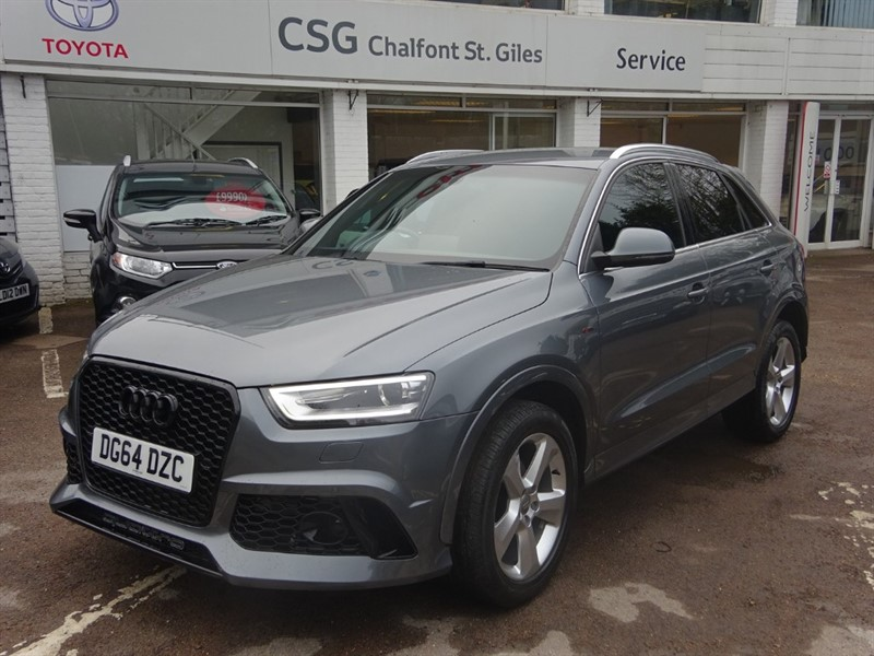 used Audi Q3 TDI QUATTRO S LINE 177 BHP - SAT NAV  - BLUETOOTH - FASH - 1/2 LEATHER in amersham