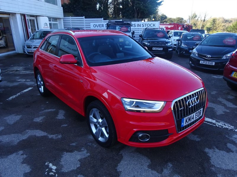 used Audi Q3 TFSI QUATTRO S LINE - FASH -SAT NAV - 1/2 LEATHER in amersham