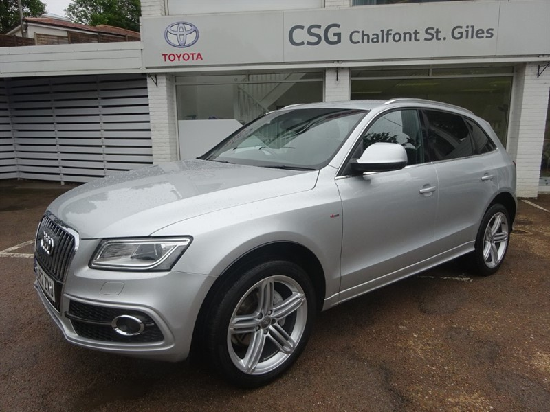 used Audi Q5 TDI QUATTRO S LINE PLUS - SAT NAV - H/LEATHER - FFSH in amersham