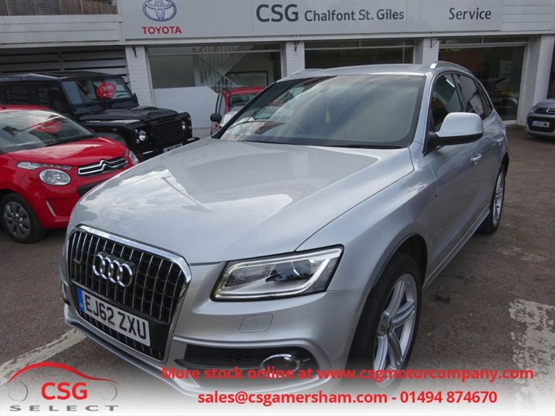 used Audi Q5 TDI QUATTRO S LINE PLUS AUTO - FASH - LEATHER - NAV - BLUETOOTH - POWER T/G in amersham
