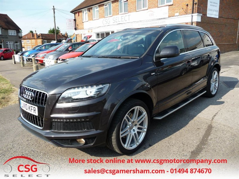 used Audi Q7 TDI QUATTRO S LINE AUTO - FASH - FULL LEATHER - PANROOF - CAMERA - 7 SEATS in amersham