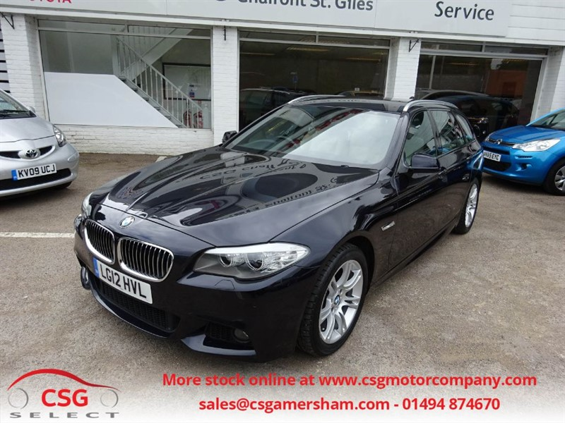 used BMW 520d M SPORT TOURING - FBMWSH - PRO NAV - HEATED LEATHER in amersham