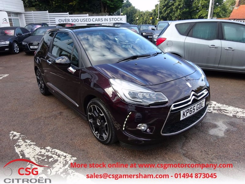 used Citroen DS3 DSPORT - FCSH - LED HEADLIGHTS - CITY BRAKING - BLUETOOTH in amersham