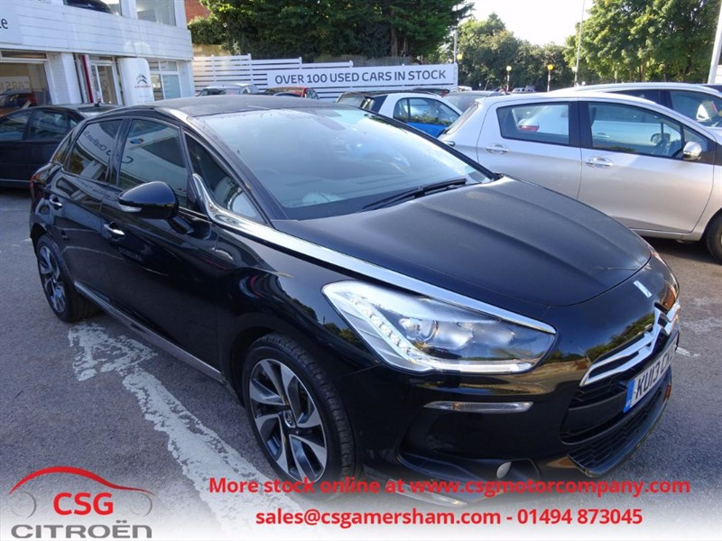 used Citroen DS5 HDI DSTYLE - FCSH - LEATHER TRIM - SAT NAV - AUTO LIGHTS/WIPERS in amersham