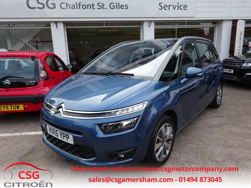 used Citroen Grand C4 Picasso BLUEHDI EXCLUSIVE EAT6 AUTO - NAV - FSH - BLUETOOTH - CAMERA in amersham