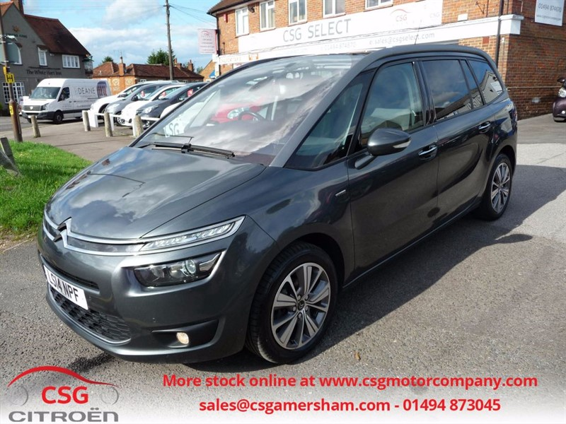 used Citroen Grand C4 Picasso E-HDI AIRDREAM EXCLUSIVE - FCSH - SAT NAV - PAN ROOF - POWER TAILGATE in amersham