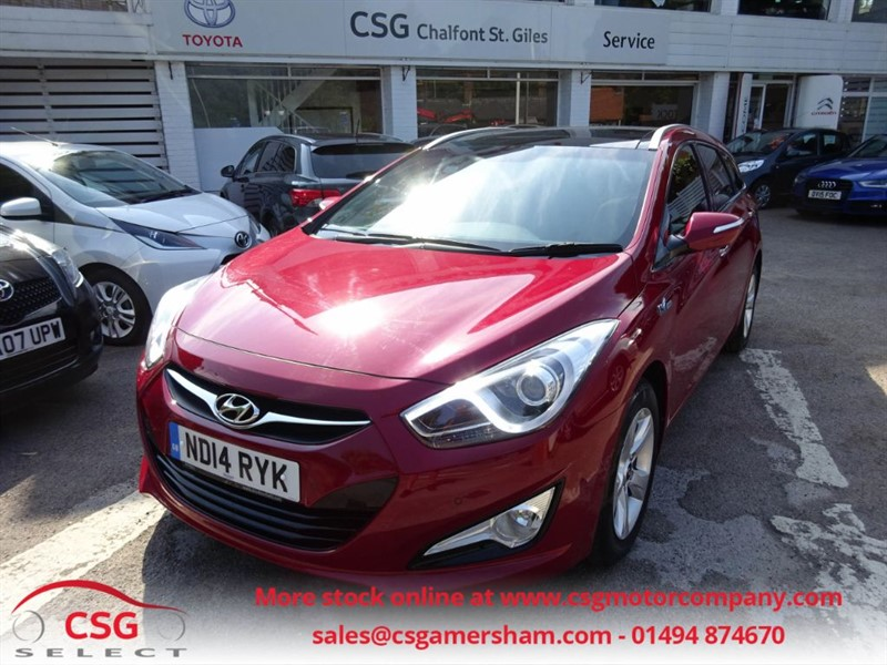 used Hyundai i40 CRDI PREMIUM BLUE DRIVE - FHSH - HEATED LEATHER - NAV - BLUETOOTH in amersham