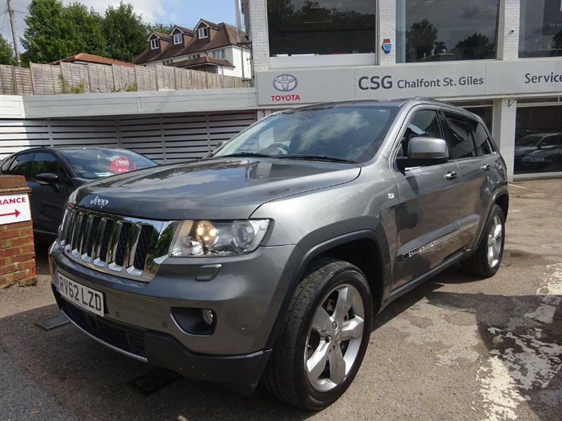 used Jeep Grand Cherokee V6 CRD OVERLAND - SUNROOF - H/SEATS- H/WHEEL in amersham
