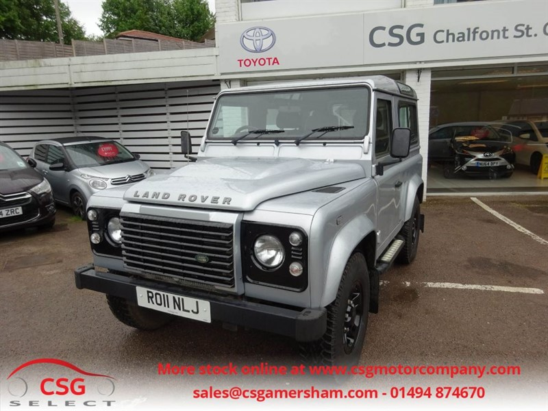 used Land Rover Defender 90 TD XS STATION WAGON - FSH - HEATED SEATS - STEPS - AC - ALLOYS - CD in amersham
