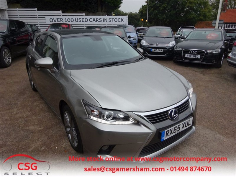 used Lexus CT 200h ADVANCE PLUS - SAT NAV- P/ROOF -H/SEATS -PARKING SENORS in amersham