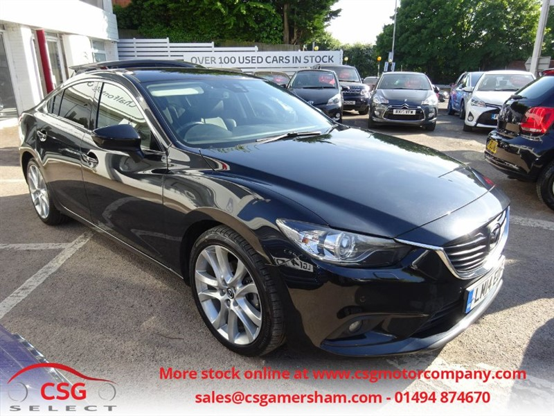 used Mazda Mazda6 6 D SPORT NAV - FMSH - HEATED LEATHER - SAT NAV - BLUETOOTH - ONE OWNER in amersham